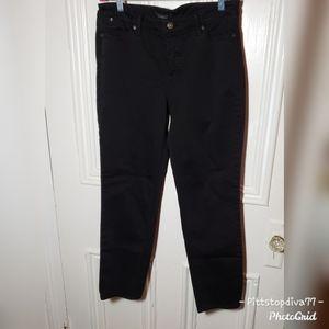 Talbots Black Flawless 5 Pocket Slim Ankle Jeans